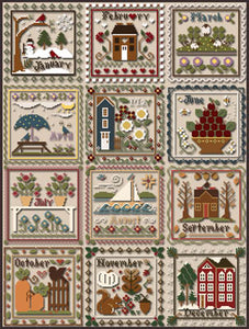 Months of the Year Collection (12 charts rereleased!) | Little House Needleworks