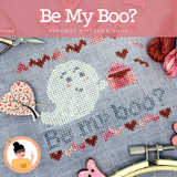 Be My Boo? A Spoopy Valentine | TopKnot Stitcher Shop
