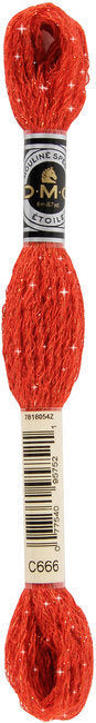 DMC C666 Bright Red | DMC Etoile Embroidery Thread