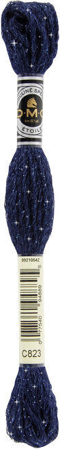 DMC C823 Dark Navy Blue | DMC Etoile Embroidery Thread