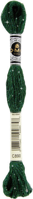 DMC C890 Dark Pistachio Green | DMC Etoile Embroidery Thread