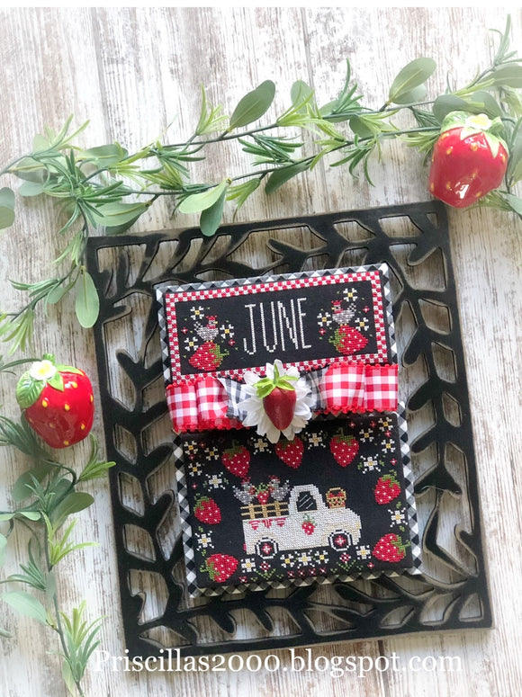 Truckin' Along June - NEW monthly series by The Real Housewives of Cross Stitch
