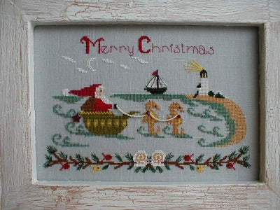 Santa at the Seashore | By the Bay Needleart