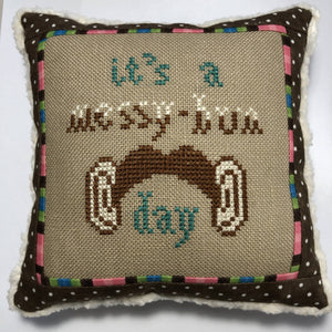 Messy Bun Day | Bendy Stitchy Designs Cross-Stitch Chart