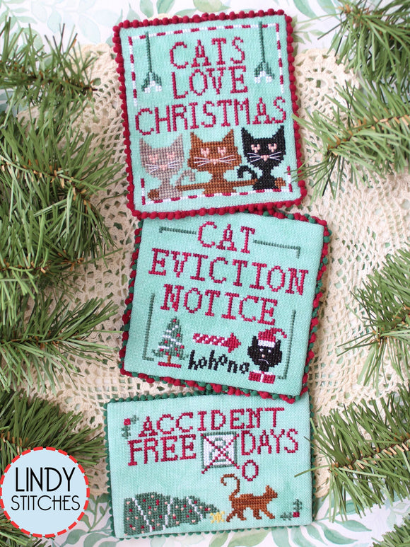 Cats Love Christmas | Lindy Stitches