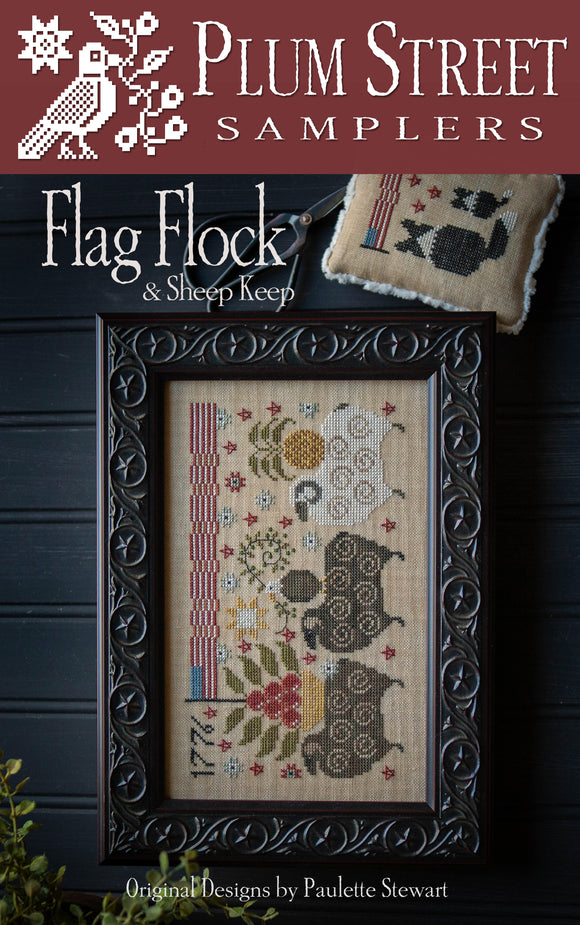 Pre-Order: Flag Flock and Sheep Keep | Plum Street Samplers
