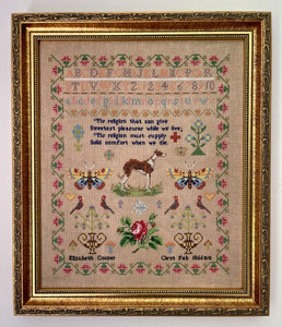 Pre-Order: Elizabeth Cooper 1866 | Fox & Rabbit Designs - Needlework Expo