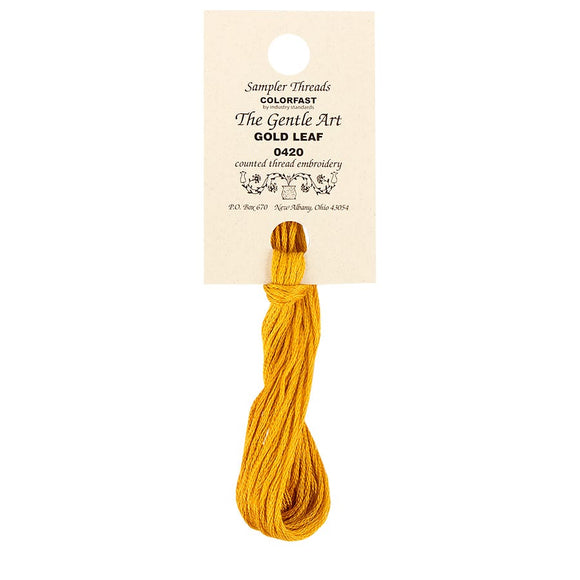 Gold Leaf | The Gentle Art Sampler Threads - Hand-Dyed Embroidery Floss
