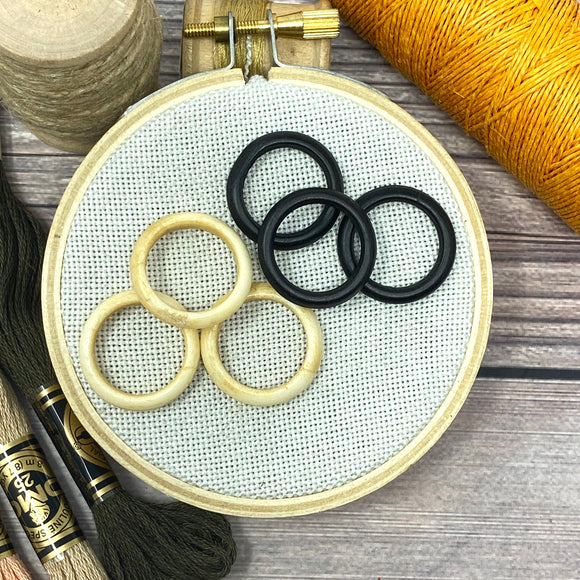 Hand Crafted Bone Rings for Cross Stitch Finishing | Set of 3 or 10
