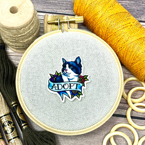 Cat Tattoo - Adopt Don't Shop Needle Minder