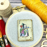 Alice in Wonderland Playing Card Needle Minder
