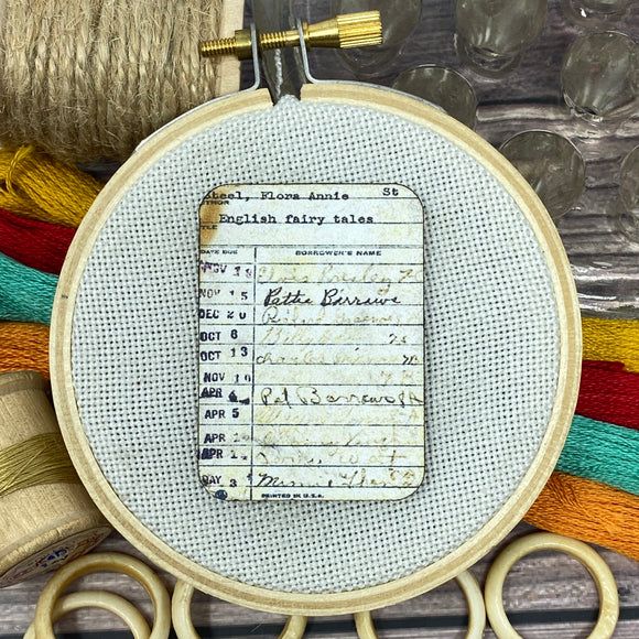 Library Due Date Card Needle Minder