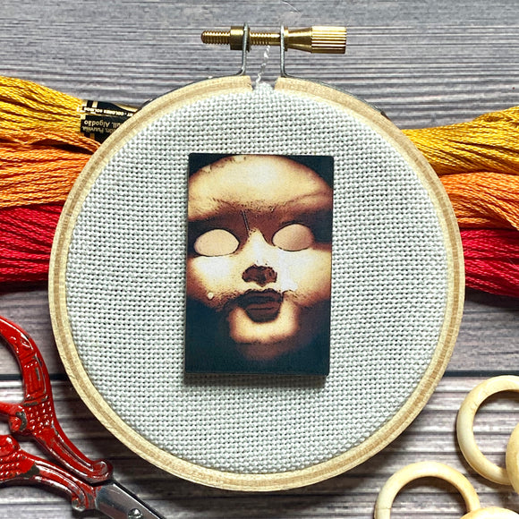 New! Creepy Doll Needle Minder