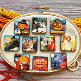 New! Halloween Mystery Mini Minder - Pumpkins, Witches, Trick or Treating (Random Design)
