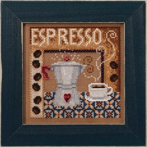 Mill Hill Espresso | Buttons and Bead Cross Stitch Kit