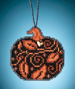 Mill Hill Glowing Pumpkin | Mill Hill Beaded Ornament Kit