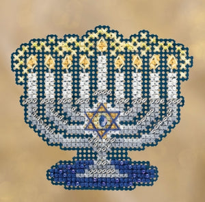 Menorah | Mill Hill Beaded Ornament Kit