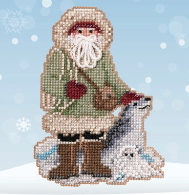 Leopard Seal Santa | Mill Hill Beaded Ornament Kit - Antarctic Santas 2020
