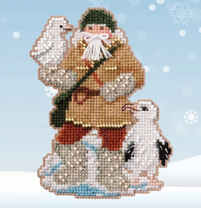 Albatross Santa | Mill Hill Beaded Ornament Kit - Antarctic Santas 2020