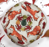 Ring a Ring ' Foxes Biscornu | Faby Reilly Designs
