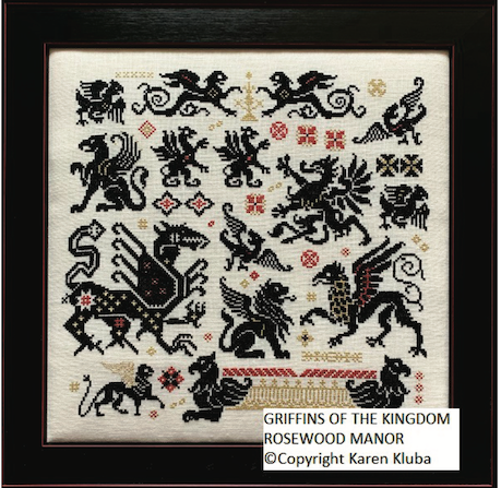 Pre-Order: Griffins of the Kingdom | Rosewood Manor - Needlework Expo