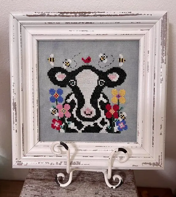 Bessie and the Blooms | Blackberry Rabbit - Needlework Expo (back-order, will ship 4/7)