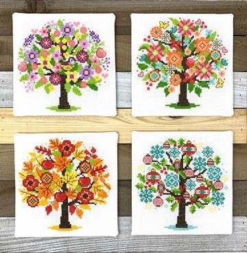 Seasonal Trees - 4 Designs | Tiny Modernist