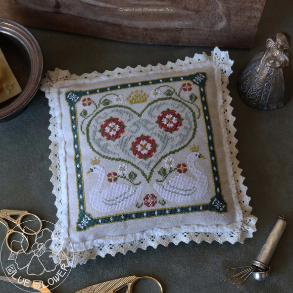 Pre-Order: Tudor Swan | The Blue Flower - Needlework Expo
