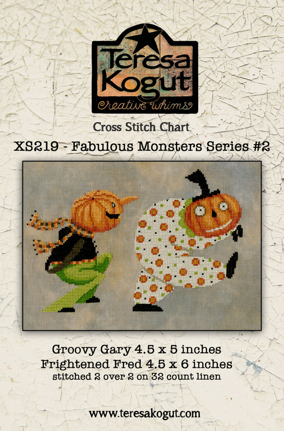 Pre-Order: New! Fabulous Monsters Series 2: Groovy Gary & Frightened Fred | Teresa Kogut