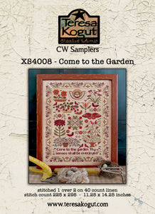 Pre-Order: Come to the Garden | Teresa Kogut Creative Whims Samplers - Needlework Expo