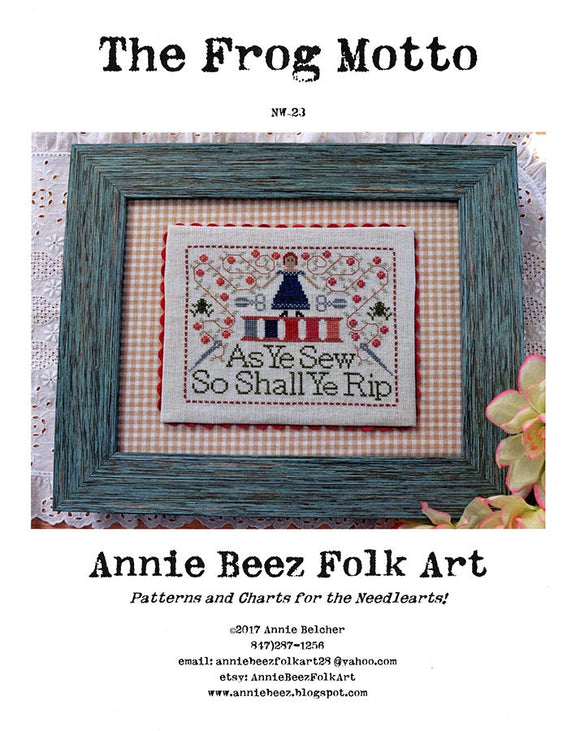 The Frog Motto | Annie Beez Folk Art
