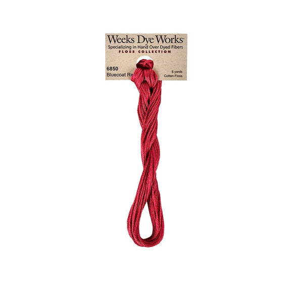 Bluecoat Red | Weeks Dye Works - Hand-Dyed Embroidery Floss