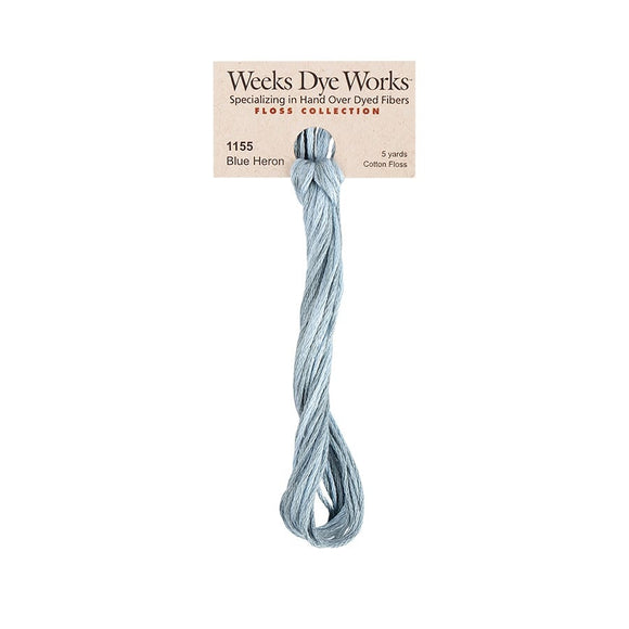 Blue Heron | Weeks Dye Works - Hand-Dyed Embroidery Floss