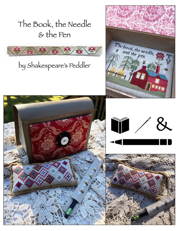 Pre-Order: The Book, the Needle, & the Pen | Shakespeare's Peddler - Needlework Expo