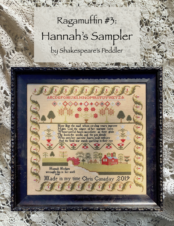 Pre-Order: Ragamuffin #3: Hannah's Sampler | Shakespeare's Peddler - Needlework Expo