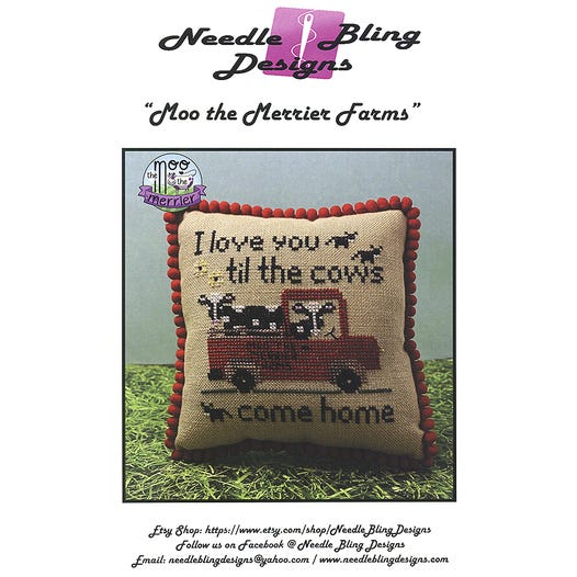 Moo the Merrier Farms - The Moo the Merrier | Needle Bling Designs