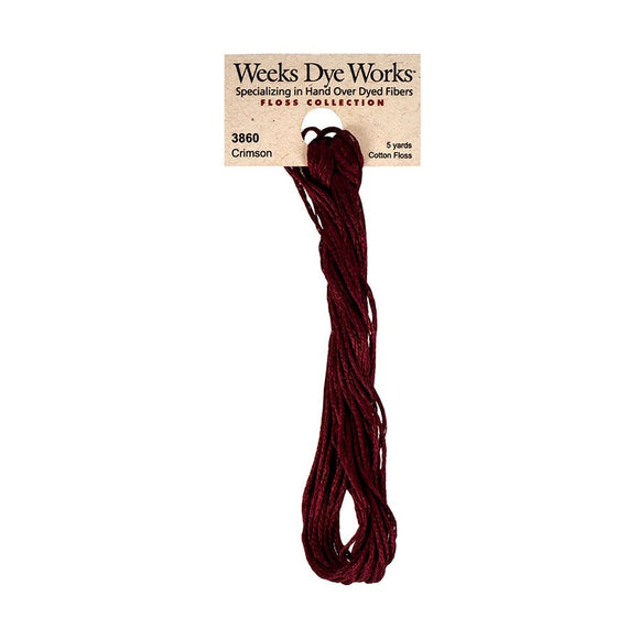 Crimson | Weeks Dye Works - Hand-Dyed Embroidery Floss