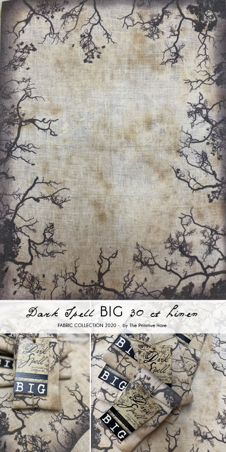 Pre-Order: New! Dark Spell BIG 30ct Linen | The Primitive Hare