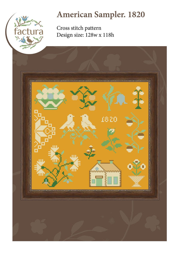 American Sampler: Mary K. Nichols 1820 | Factura Designs Cross-Stitch Pattern