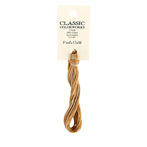 Fool's Gold Classic Colorworks Thread | Hand-Dyed Embroidery Floss