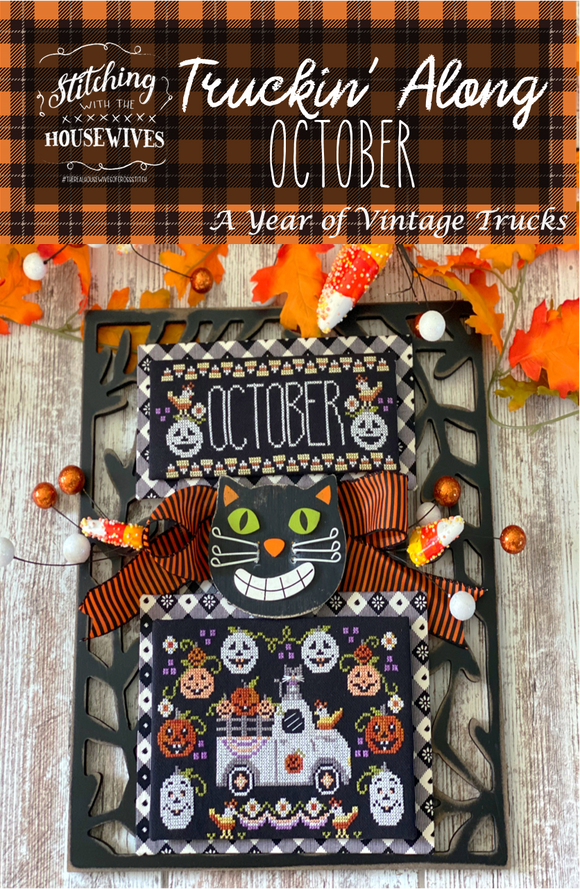 New! Truckin' Along October - Pumpkin Truck | Stitching with the Housewives