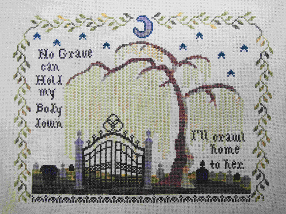 Roladex Mourning Sampler: Bendy Stitchy Designs Nashville 2020 Release