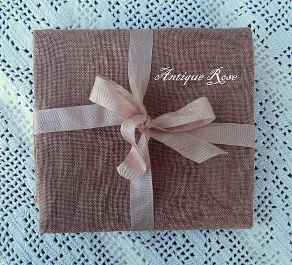 32ct Antique Rose Linen | Nikyscreations