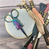 Pineapple Rainbow Embroidery Scissors