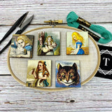 Alice in Wonderland Character Tile Needle Minder *limited edition*