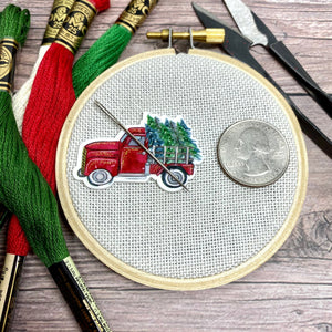 Christmas Tree Farm Vintage Truck Needle Minder