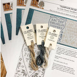 "Classic Colorworks 3 New Floss Colors (Chesapeake Bay, Lighthouse, Mariner's Compass) + Complimentary Design ""Sampler Heart"""