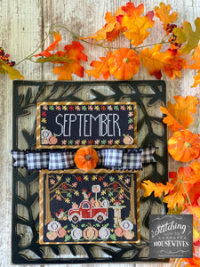Pre-Order: New! Truckin' Along September - Pumpkins | Stitching with the Housewives