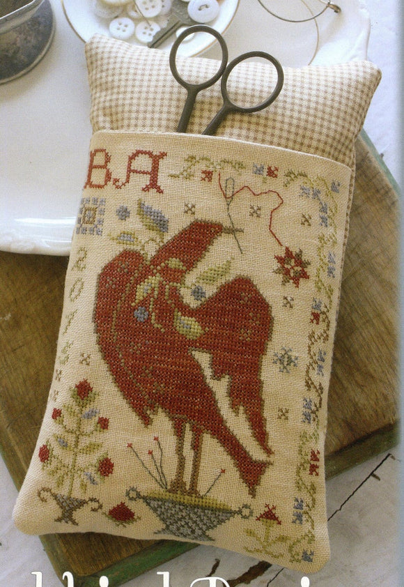 Sewing Bird Scissor Pocket | Blackbird Designs