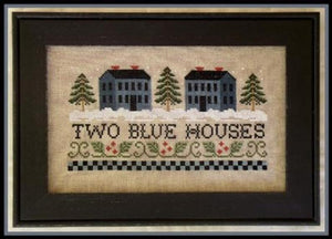 Two Blue Houses | Little House Needleworks